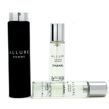 Chanel Allure Homme Sport Дорожная Туалетная Вода Спрей (с 2-мя Запасными Блоками) 3x20ml/0.7oz