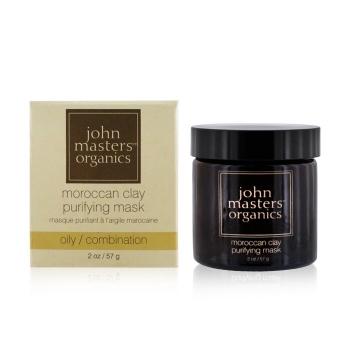 John Masters Organics Очищающая Маска с Марокканской Глиной (для Жирной и Комбинированной Кожи) 57g/2oz